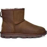 UGG Womens Essential Mini Leather Classic Boot in Chestnut, Size 8
