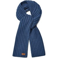 UGG Mens Diagonal Ribbed Stripe Scarf in Pacific Blue
