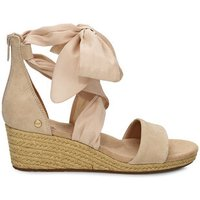 UGG Womens Trina Wedge Sandals in Nude, Size 6, Suede