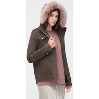 UGG Womens Convertible Field Jacket in Olive, Size Large,