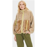 UGG Womens Marlene Sherpa Jacket in Sandstone, Size Large