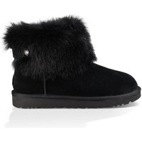 UGG Womens Valentina Boot in Black, Size 5, Suede