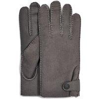 UGG Mens Sheepskin Side Tab Tech Glove in Charcoal, Size Large, Shearling
