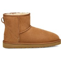 UGG Mens Classic Mini Boot in Chestnut, Size 12, Leather/Shearling/Suede