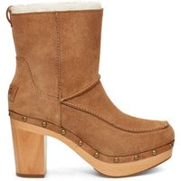 UGG Womens Kouri Heeled Boot in Chestnut, Size 9, Suede