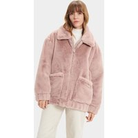 UGG Womens Kianna Faux Fur Jacket in Fawn, Size Small