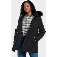 UGG Womens Bernice Parka Jacket in Black, Size Large, Nylon