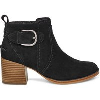 UGG Womens Leahy Ankle Boot in Black, Size 6.5, Suede