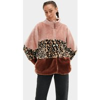 UGG Womens Elaina Colorblock Sherpa Jacket, Size Small