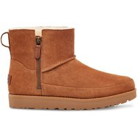 UGG Womens Classic Zip Mini Suede Boot in Chestnut, Size 7