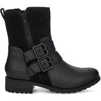 UGG Womens Wilde Boot in Black, Size 3, Leather