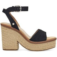 UGG Womens Laynce Sandal in Black, Size 5.5, Leather