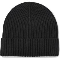 UGG Mens Wide Cuff Rib Hat in Black