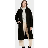 UGG Womens Remy Reversible Shearling Coat in Black, Size XS