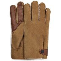 UGG Mens Sheepskin Side Tab Tech Glove in Chestnut, Size Large, Shearling