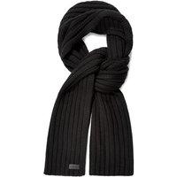 UGG Mens Diagonal Ribbed Stripe Scarf in Black
