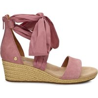 UGG Womens Trina Wedge Sandals in Pink Dawn, Size 7.5, Suede