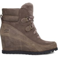 UGG Womens Valory Waterproof Boot in Mole, Size 8, Suede