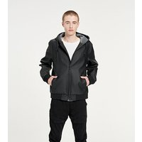 UGG Mens Diego Rubberized Jacket in Black, Size Medium, Faux Leather