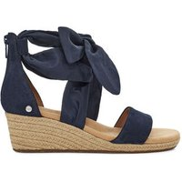 UGG Womens Trina Wedge Sandals in Dark Sapphire, Size 6, Suede