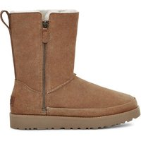 UGG Womens Classic Zip Short Suede Boot in Chestnut, Size 3