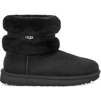 UGG Womens Fluff Mini Belted Boot in Black, Size 5, Shearling