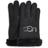 UGG Womens Sheepskin Logo Glove in Black, Size Large, Shearling