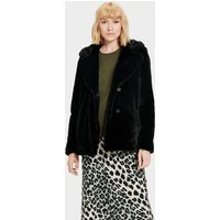 UGG Womens Rosemary Faux Fur Jacket in Black, Size XL