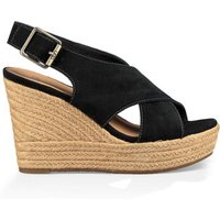 UGG Womens Harlow Wedge in Black, Size 3, Suede