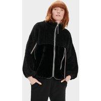 UGG Womens Marlene Sherpa Jacket in Black, Size XS