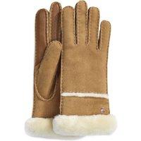 UGG Womens Seamed Tech Glove in Chestnut, Size Medium, Shearling
