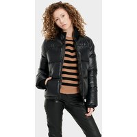 UGG Womens Izzie Puffer Nylon Jacket in Black, Size Small