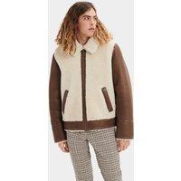 UGG Mens Kaz Sheepskin Jacket in Dark Chestnut, Size Large