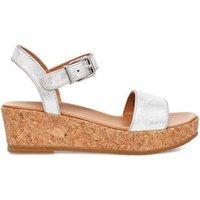 UGG Kids Milley Shimmer Sandal in Silver, Size 12