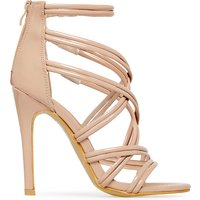 Adriana Strappy Heel In Mocha Patent, Brown