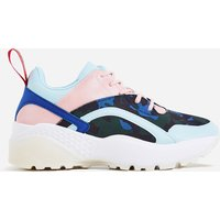 Aero Chunky Sole Sneaker In Blue Camouflage, Blue