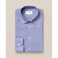 Mid Blue Check Twill Shirt