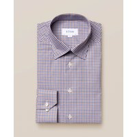 Brown and Blue Check Twill Shirt