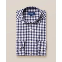 Dark Blue Gingham Shirt