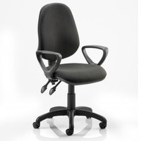Eclipse II Lever Task Operator Chair Black With Loop Arms