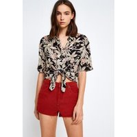 BDG Red Mom Corduroy Shorts, red