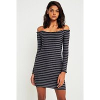 Pins & Needles Striped Lurex Off-the-Shoulder Dress, Lilac