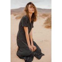 Pins & Needles Polka Dot Midi Shirt Dress, black