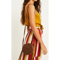 Beyond Retro Lori Suede Circle Crossbody, brown