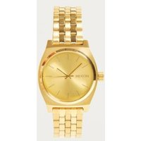 nixon time teller watch, gold