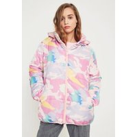 NICOPANDA Uptown Colourful Camo Puffer Jacket, Assorted
