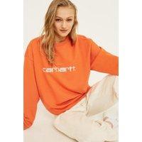 Carhartt WIP Orange Crew Neck Sweatshirt, orange