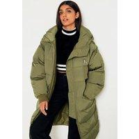 Free People Long Raglan Puffer Jacket, Green