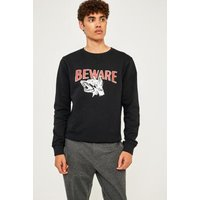 Soulland Roy Print Black Sweatshirt, black