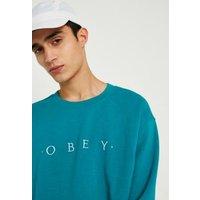 OBEY Teal Logo Crew Neck Sweatshirt, Turquoise